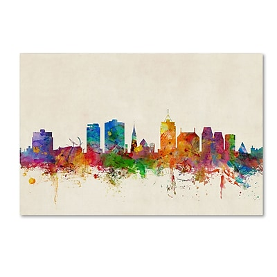 Trademark Fine Art ''Christchurch New Zealand Skyline'' by Michael Tompsett 16