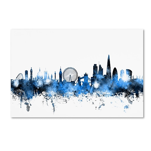 "Trademark Fine Art ''London England Skyline'' by Michael Tompsett 16"" x 24"" Canvas Art (MT0613-C1624GG)"