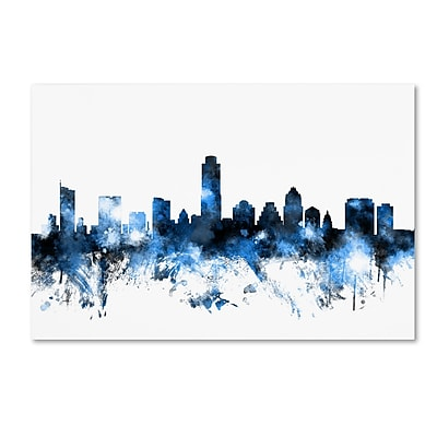 Trademark Fine Art ''Austin Texas Skyline II'' by Michael Tompsett 16