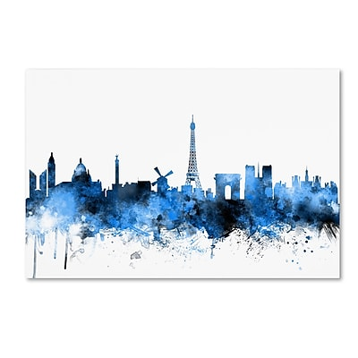 Trademark Fine Art ''Paris France Skyline'' by Michael Tompsett 22