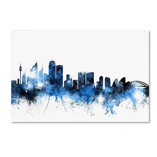 "Trademark Fine Art ''Sydney Australia Skyline'' by Michael Tompsett 16"" x 24"" Canvas Art (MT0619-C1624GG)"