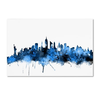 Trademark Fine Art ''New York Skyline II'' by Michael Tompsett 30