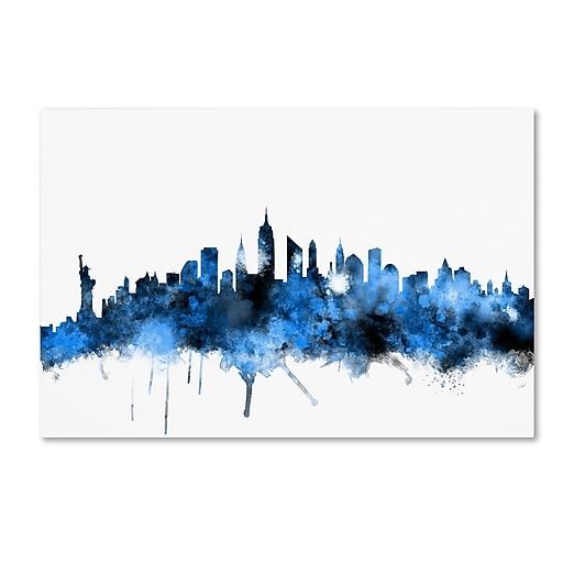 "Trademark Fine Art ''New York Skyline II'' by Michael Tompsett 30"" x 47"" Canvas Art (MT0620-C3047GG)"