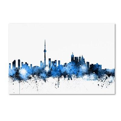 Trademark Fine Art ''Toronto Canada Skyline'' by Michael Tompsett 16
