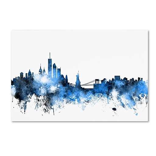 "Trademark Fine Art ''New York Skyline III'' by Michael Tompsett 16"" x 24"" Canvas Art (MT0625-C1624GG)"