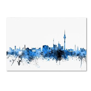Trademark Fine Art ''Berlin Germany Skyline'' by Michael Tompsett 30