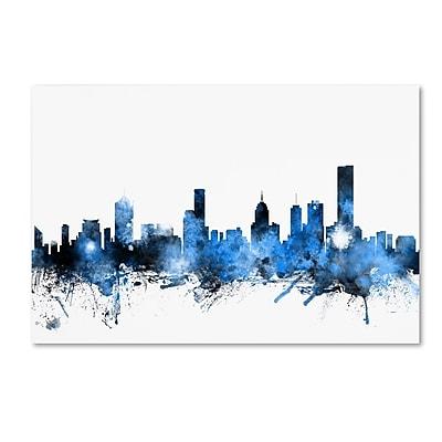 Trademark Fine Art ''Melbourne Australia Skyline'' by Michael Tompsett 30