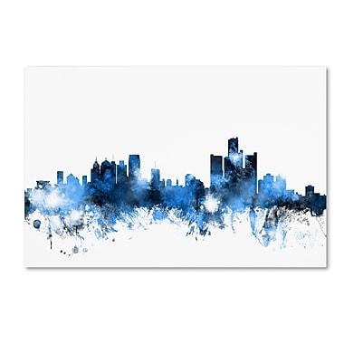 Trademark Fine Art ''Detroit Michigan Skyline II'' by Michael Tompsett 12