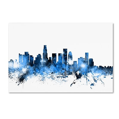 Trademark Fine Art ''Los Angeles California Skyline II'' by Michael Tompsett 22