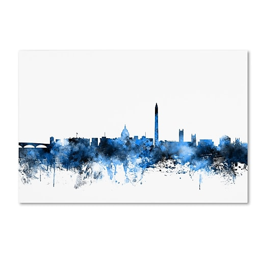 "Trademark Fine Art ''Washington DC Skyline III'' by Michael Tompsett 22"" x 32"" Canvas Art (MT0630-C2232GG)"