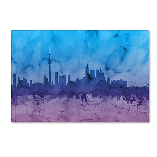 "Trademark Fine Art ''Toronto Canada Skyline II'' by Michael Tompsett 16"" x 24"" Canvas Art (MT0633-C1624GG)"