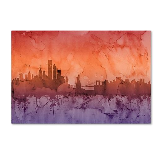 "Trademark Fine Art ''New York Skyline IV'' by Michael Tompsett 30"" x 47"" Canvas Art (MT0634-C3047GG)"