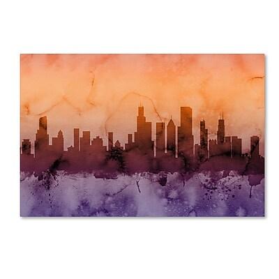 Trademark Fine Art ''Chicago Illinois Skyline III'' by Michael Tompsett 22