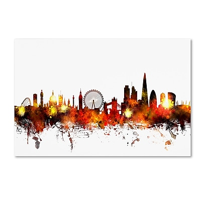 Trademark Fine Art ''London England Skyline II'' by Michael Tompsett 22