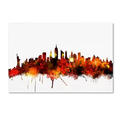 Trademark Fine Art ''New York Skyline VII'' by Michael Tompsett 30