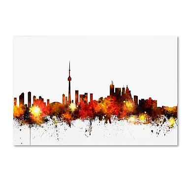Trademark Fine Art ''Toronto Canada Skyline III'' by Michael Tompsett 22