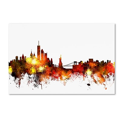 Trademark Fine Art ''New York Skyline VIII'' by Michael Tompsett 30