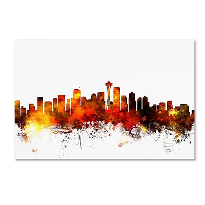 Trademark Fine Art ''Seattle Washington Skyline III'' by Michael Tompsett 22
