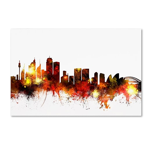 "Trademark Fine Art ''Sydney Australia Skyline III'' by Michael Tompsett 30"" x 47"" Canvas Art (MT0650-C3047GG)"
