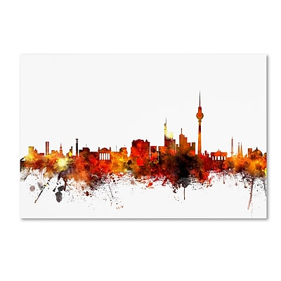 Trademark Fine Art ''Berlin Germany Skyline II'' by Michael Tompsett 16