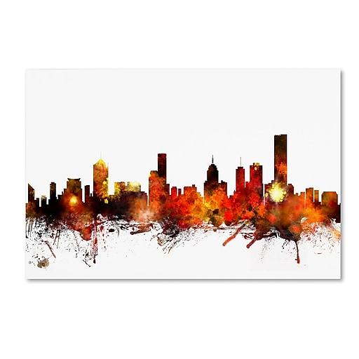 "Trademark Fine Art ''Melbourne Australia Skyline II'' by Michael Tompsett 30"" x 47"" Canvas Art (MT0653-C3047GG)"