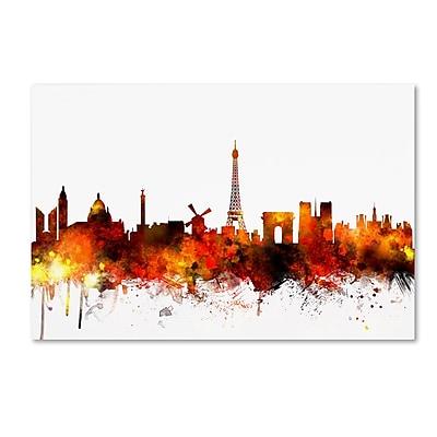 Trademark Fine Art ''Paris France Skyline II'' by Michael Tompsett 16