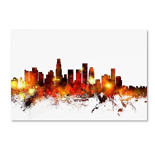 "Trademark Fine Art ''Los Angeles California Skyline III'' by Michael Tompsett 22"" x 32"" Canvas Art (MT0658-C2232GG)"