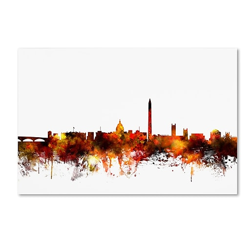 "Trademark Fine Art ''Washington DC Skyline IV'' by Michael Tompsett 16"" x 24"" Canvas Art (MT0659-C1624GG)"