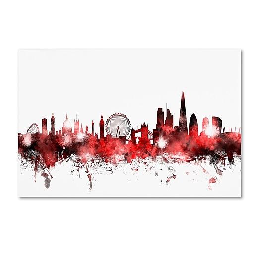 "Trademark Fine Art ''London England Skyline 2'' by Michael Tompsett 30"" x 47"" Canvas Art (MT0660-C3047GG)"
