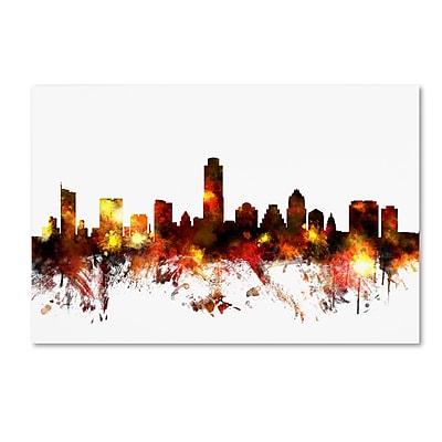 Trademark Fine Art ''Austin Texas Skyline III'' by Michael Tompsett 30