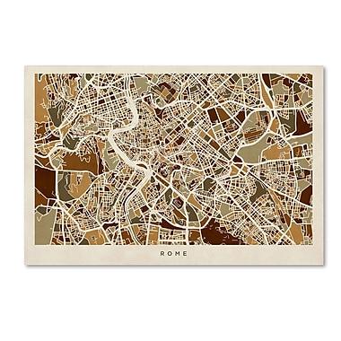 Trademark Fine Art ''Rome Italy Street Map'' by Michael Tompsett 16