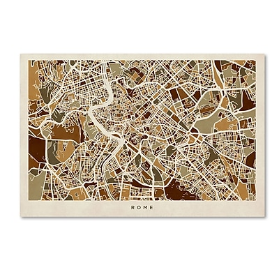 Trademark Fine Art ''Rome Italy Street Map'' by Michael Tompsett 22