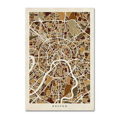 Trademark Fine Art ''Moscow City Street Map'' by Michael Tompsett 12