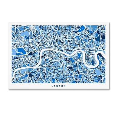 Trademark Fine Art ''London England Street Map 3'' by Michael Tompsett 12