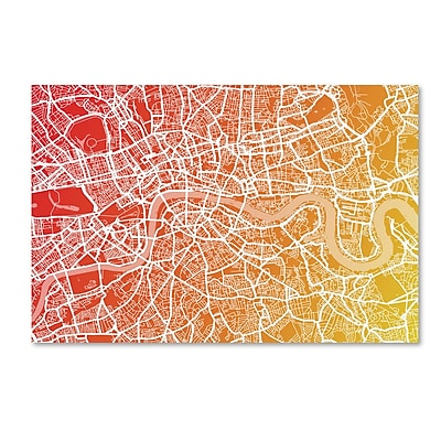Trademark Fine Art ''London England Street Map Art '' by Michael Tompsett 16
