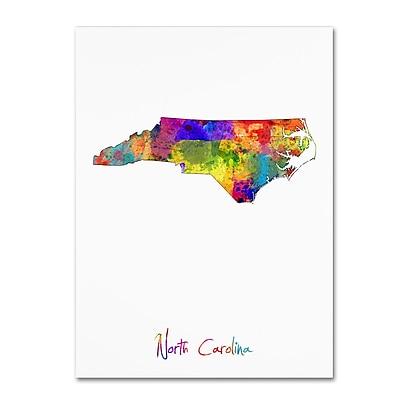 Trademark Fine Art ''North Carolina Map'' by Michael Tompsett 14