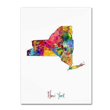 Trademark Fine Art ''New York Map'' by Michael Tompsett 18
