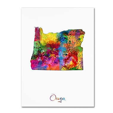 Trademark Fine Art ''Oregon Map'' by Michael Tompsett 14
