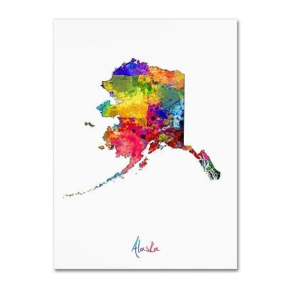 Trademark Fine Art ''Alaska Map'' by Michael Tompsett 18