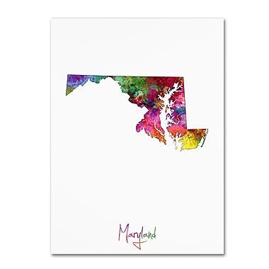 Trademark Fine Art ''Maryland Map'' by Michael Tompsett 14