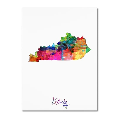 Trademark Fine Art ''Kentucky Map'' by Michael Tompsett 18