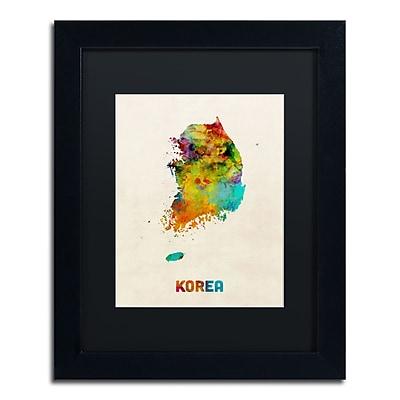 Trademark Fine Art ''Korea Watercolor Map'' by Michael Tompsett 11