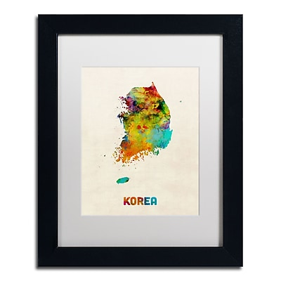 Trademark Fine Art ''Korea Watercolor Map'' by Michael Tompsett 11