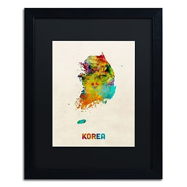 Trademark Fine Art ''Korea Watercolor Map'' by Michael Tompsett 16
