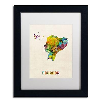 Trademark Fine Art ''Ecuador Watercolor Map'' by Michael Tompsett 11