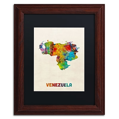 Trademark Fine Art ''Venezuela Watercolor Map'' by Michael Tompsett 11