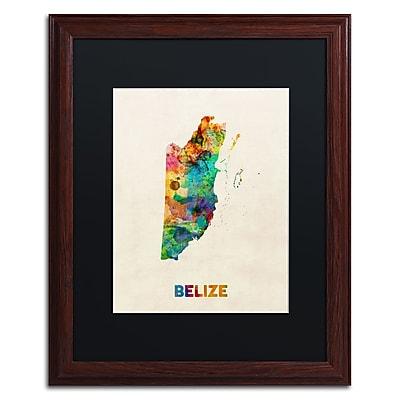 Trademark Fine Art ''Belize Watercolor Map'' by Michael Tompsett 16