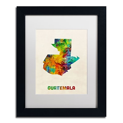 Trademark Fine Art ''Guatemala Watercolor Map'' by Michael Tompsett 11
