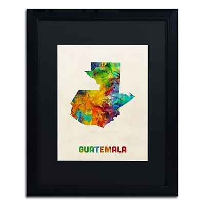 Trademark Fine Art ''Guatemala Watercolor Map'' by Michael Tompsett 16