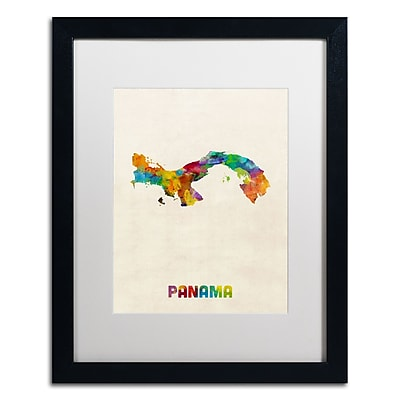 Trademark Fine Art ''Panama Watercolor Map'' by Michael Tompsett 16
